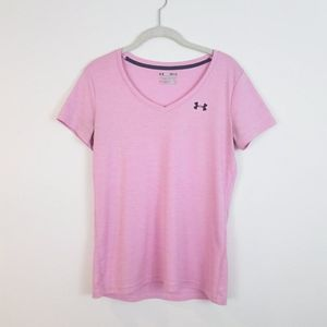 UNDER ARMOUR Twisted Tech V-Neck Loose Top Small